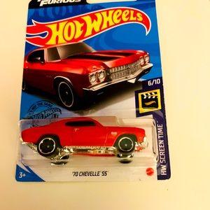 Hot wheels diecast 70 chevelle ss NWT